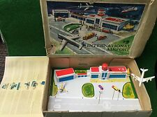 Biller / Technofix International Airport Blechspielzeug Vintage W. Germany ovp !