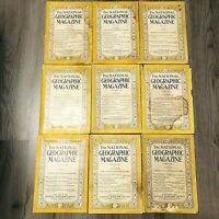 Antique Vintage 1929 - 1931 National Geographic Magazines Lot of 9
