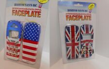 2 Cellphone Faceplate cover Nokia 3210 American & British Flag Union Jack  B-4