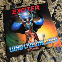 Exciter ‎ Long Live The Loud lp vinyl MFN 47 Heavy Metal 1985 M-/M