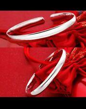 UK 925 sterling silver bangle unisex girl friend  birthday christmas gift + bag