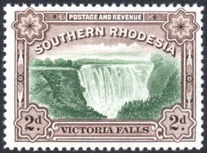 Southern Rhodesia 1935-41 2d green & chocolate P12½ Victoria Falls SG.35 fine UM