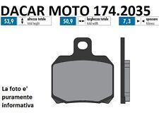 174.2035 PLAQUETTE DE FREIN SINTERED POLINI MBK : SKYLINER 125 Carburateur