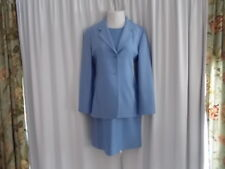 "LINDA ALLARD - ELLEN TRACY DRESS SUIT 8 JACKET BUST 36-38"" DRESS BUST 36"" BLUE"