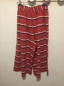 Obus Traveller Red Striped Culottes Size 2 Stretch Cotton