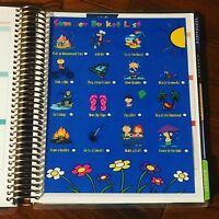 Summer Bucket List Dashboard Insert for use with Erin Condren Planner