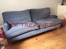 Sofa.com SUPER BLUEBELL SOFA 3 SEAT SOFA IN DABUBE BLUE COTTON MATT VELVET