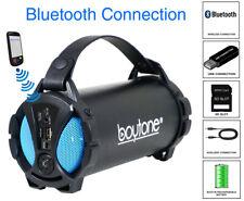 Boytone BT-38BL Portable Bluetooth Speaker Indoor/Outdoor, FM Radio, USB Port