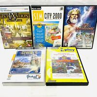Vintage PC 5 Games Bundle - Sim City 2000, Civilization IV, Transport Tycoon VGC