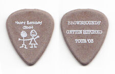 "Sum 41 Dave ""Brownsound"" Baksh Gettin Hitched Brown Guitar Pick - 2003 Tour"
