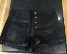 "SILENCE & NOISE / BLACK FAUX LEATHER / SHORTS / NWOT 27"" WAIST / SIZE XS"