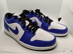 Size 11 Air Jordan 1 Low Blue Royal Toe Men's Basketball Shoes 553558-124