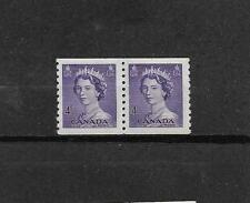 pk29491:Stamps-Canada #333 Karsh Queen 4 cent Coil Pair - MNH