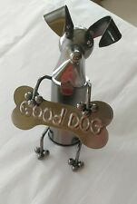 """New listing """"Good Dog"""" Metal Art 6 3/4 x 4 1/8"""" Bottle Topper Absolutely Adorable!"""