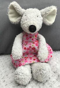 Jellycat Floral Friends Molly Mouse Soft Cuddly Toy Plush Comforter Pink Dress