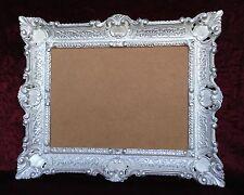Cadre d'image art nouveau Blanc-Argent ancien rectangulaire 56x46 baroque 30x40
