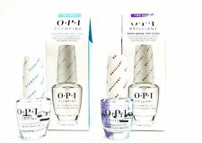 OPI Nail PLUMPING Volumizing and BRILLIANT High Shine Top Coat .5oz/15mL ~ 2ct~