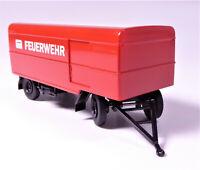 H0 BREKINA Anhänger Kofferanhänger Paketanhänger Feuerwehr 112 rot weiß # 55291