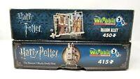 Lot of 2 Harry Potter Wrebit 3D Puzzles Diagon Alley & The Burrow