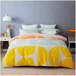 Modern Scandinavian Style MORRIS Cotton Quilt / Doona Cover Set - Double Bed