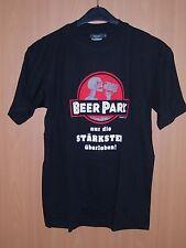 Hanes Fun Shirt Bier Beer Park Geschenk Geburtstag Partygag schwarz S neu