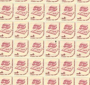 #1585 pre-print paper black dot Full mint sheet of 100 Books Definitive MNH OG