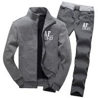2018 Winter Men Sport Warm Coat Athletic Apparel Suit Sets Casual Jacket Pants
