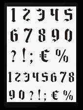 Zahlenschablone Schablone Nr.16 gotische  Zahlen