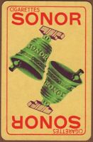 Playing Cards 1 Single Card Old SONOR CIGARETTES Advertising Art Tobacco BELLS