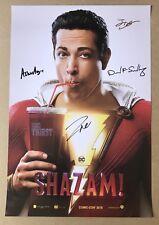 SDCC 2018 SHAZAM Signed Poster ZACHARY LEVI San Diego Comic Con DC