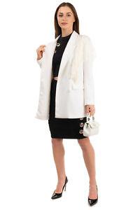 RRP €210 ANIYE BY Sweat Blazer Jacket Size S Ruffle Lace Trim
