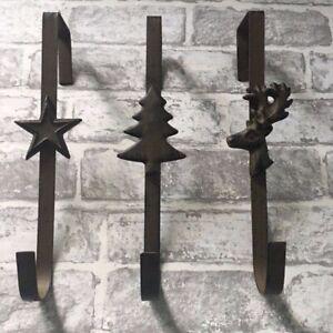 Christmas Wreath Hanger Rustic Iron Rustic Over Door Hanger Star/Tree/Reindeer