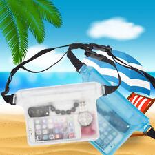 Waterproof Mobile Phone Dry Bum Bag Case Pouch Shoulder Strap Swim Diving UK