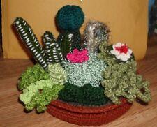 Handmade Crocheted Amigurumi 8-in-1 Mini Garden Succulents / Cactus