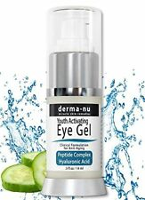 Eye Wrinkle Cream By Derma-nu – Anti Aging Eye Gel Treatment for Dark Circles, &