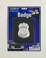 Police Badge On Wallet Police Force Costume Accessory