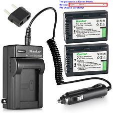 Kastar Battery Travel Charger for Sony NP-FH50 DCR-DVD705 DCR-DVD708 DCR-DVD710
