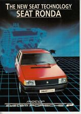 1984 SEAT RONDA 24p Spanish Brochure in English - Like FIAT RITMO