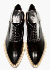 ACNE STUDIOS 'Carla' Black Brogue Shoes Size 35