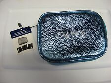 "My Bling Jewelry Soft Travel Organizer Box & 3 Pouch Set 5"" x 6"" x 2"" / Blue"