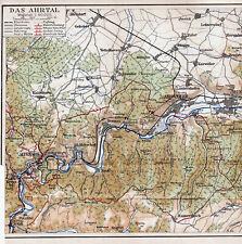 Remagen + Ahrtal 1929 orig. Karte + Reisef. (4 S.) Neuenahr Ahrweiler Altenahr