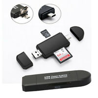 Type C Micro USB & USB SD TF Card Reader 3 in 1 OTG Adapter For Samsung iPhone