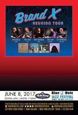 "Brand X ""Reunion Tour"" 2017 New York City Concert Poster - Jazz Fusion Music"