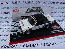 voiture 1/43 IXO altaya Rallye Monte Carlo FIAT 131 Abarth 1978 blanche Servia