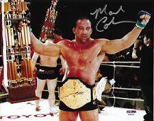 Mark Coleman Signed UFC 8x10 Photo PSA/DNA Pride FC 2000 Grand Prix Belt Picture