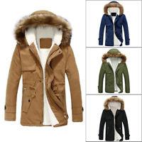 NEUF VESTE HOMME Toison doublé manteau trench d' Hiver Parka très chaud