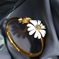 Fashion Daisy Cute Bee Gold Bracelet Bangle Cuff Open Women Jewelry Summer Gifts