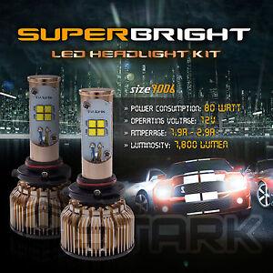 LED 80W 7800LM LED Kit CREE XT-E 6000K White Fog Light Bulbs - 9006 HB4