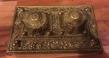 Lovely Heavy Vintage Brass Ink Stand