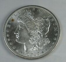 1882S MORGAN DOLLAR GEM BU TONING FROM 40 YR OLD COLLECTION BEAUTIFUL!